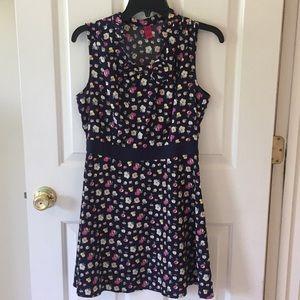 Navy flower petal dress.